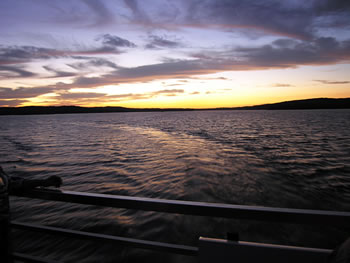 sunset on Patoka Lake
